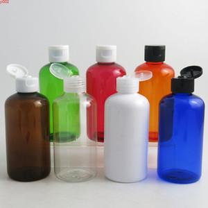 20 x 220ml Shampoo Travel Plastic Bottles Flip Top Cap 220 cc Cream Containers Amber Blue Green Clear White Orange Redgood quatity