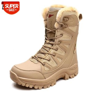 Winter Men's Boots Special Force Men's Military Boots Outdoor Waterproof Tactical Plush Warm Women's Snow #Ha8A
