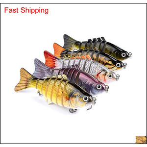 Fishing Lures Wobblers Swimbait Crankbait Hard Bait Isca Artificial Fishing Tackle Lifelike Lure 7 Segm zgJ home2006