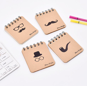 Korean mini notepads kraft papers cover notepads men style loose-leaf notebook Blank paperTravel Journal note books Christmasi Gift SN5199
