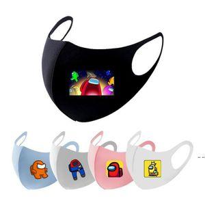 2021 Nuevo entre los Juegos de EE.UU. Designer Face Mask Impresión Poliéster Tela Adultos Niños Cara Mascarilla Mascarilla Mascarilla HWA3761