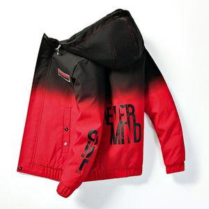 Men's Jackets Autumn Winter Cotton Jacket Male Hooded Clip Thickened Korean Logo Gradient Fashion Youth Men