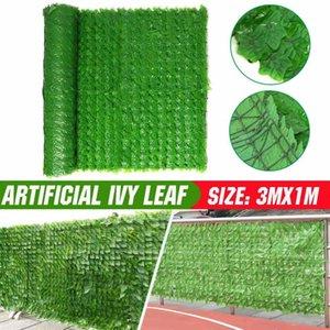 3MX1M Faux artificial Ivy Leaf Privacy Fence Garden Fence Green Plants Grass Wall Hotel Tienda Árbol Decoración de la casa Plantas