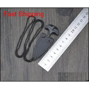 Multifunctional Mini Hanging Necklace Knife Protable Outdoor Camping Knife Rescue Survival Tool T5C0C Keljq