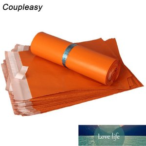 100pcs 8 sizes Orange Plastic Courier Bag Poly Mailer Self Adhesive Shipping Mailing Bags Express Storage Bag Business Supplies