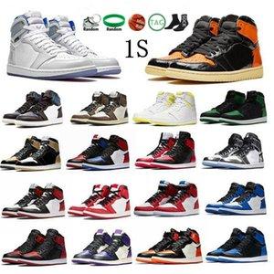Jordan Jumpman OG 1s Basketball Shoes Men Women Obsidian Royal Toe Black Metallic Sneakers High Pine Green Taupe Haze Dark Mocha Trainers