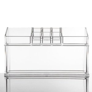 Bathroom Storage & Organization Acrylic Jewelry Cosmetic Drawers Display Transparent Makeup Organizer Boxes Case Box-Y-2803D