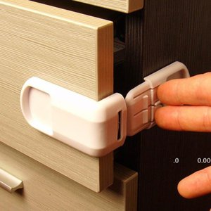 Old Cobbler Child safety lock ABS Multifunctional Wardrobe refrigerator door 90 degrees baby protection supplies Double snap GWE10549