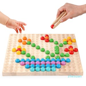 Real wooden puzzle children's colorful ball ball painting jigsaw puzzle parent-child interaction kindergarten teaching toy gift