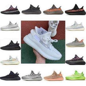 2021 Kanye West 350 V2 yezys Boost Беговые Обувь Belgua 2.0 Полу замороженные Желтые Обувь Высококачественный дизайнер Yeezy Мужчины Женщины Тренерные кроссовки EUR 36-48