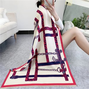 2021 new double-sided cashmere scarf women's winter dual-purpose air conditioning room shawl long style thickened warm V06I