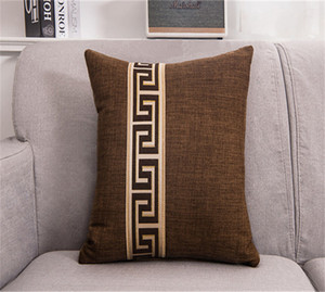 45*45cm Fashion Cotton Linen Nap Cushion Cover Home Decor Sofa Sofa Bed Cushion Cover Throw Pillow Case Solid Pillowcase