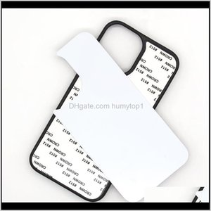 Tpu+Pc Blank 2D Sublimation Case Heat Transfer Phone Cases With Aluminum Inserts For Iphone 12 11 Xs Xr 8 Plus Samsung S20 Fe Jzu5T Bqpg9