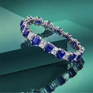 Hbp mode shipai bleu bracelet féminin tempérament de luxe géométrique 925 sterling argent pagoda découper ornement nouvel produit