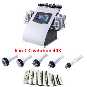 Nuevo diseño de 6 en 1 ultrasonido 40K Cavitating Vacuum RF SPA Slimming Machine CE USA Warehouse