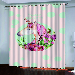 European Style animal Photo Curtains Luxury Living Room Bedroom Curtain Customized Size Drapes Cover