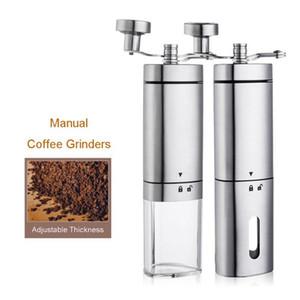 Manual portátil Moedor de Café Aço Inoxidável Cerâmica Ajustável Handheld Cacau Café Beans Burr Moinhos Mill Ferramenta
