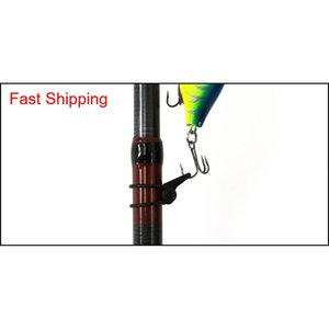 Multiple Color Plastic Fishing Rod Pole Hook Keeper Lure Spoon Bait Treble Holder Small Fishing Acce RWH home2006