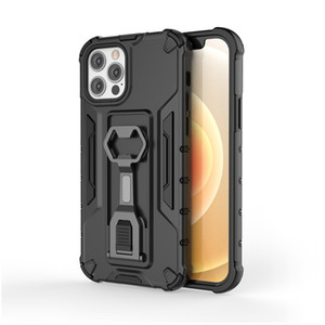Shockproof 2 in 1 Hybrid Kickstand TPU+PC Phone Case For iPhone 12 mini 12 11 Pro Max Xs Xr Xs Max With stand
