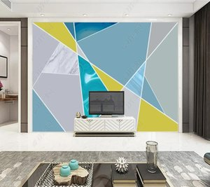 Wallpapers Papel De Parede Modern Art Abstract Geometric Marbling3d Wallpaper Mural,living Room Tv Wall Bedroom Papers Home Decor