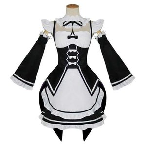 Anime Re Life In A Different World From Zero Ram Rem Cosplay Costumes The Maid Outfit Halloween Costume Servant Dress Y0913