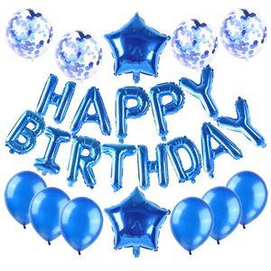 25 ballons PCS au total joyeux anniversaire lettres cardiaques confetti et aluminium Feuille de foile de la fête de la fête de fête de fête d'anniversaire de fête d'anniversaire 700 k2