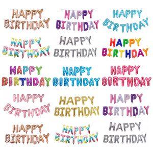 Happy Birthday balloon Letter Alphabe Rose Gold foil balloon wedding party birthday decoration adult kids helium party balloon