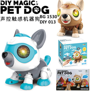 Intelligent voice control interactive magic pet dog multi-function touch sensing electronic robot dog model assembly toy