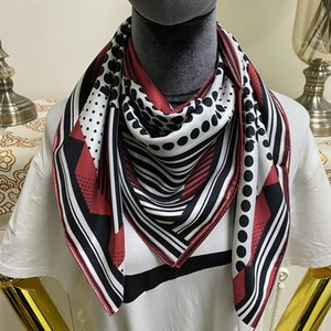 New style size 90cm - 90cm good quality 100% twill silk material print dot flowers pattern square scarf for women