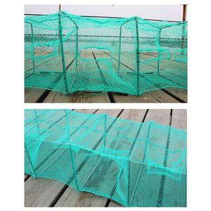 Gambero Cage Pesca Net Catcher Trappola Pieghevole portatile per granchio gamberi aragosta pesca rete rete rete esterna all'aperto