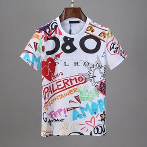Tshirt da uomo Hiphop Nebbia a doppio binario Camicia a doppio binario Essentials Stampato T-shirt Letted T-shirt a manica corta Moda Estate T-shirt sportiva Estate