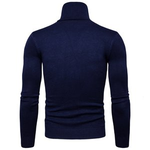 New Autumn and Winter Mens Sweaters Turtleneck Men's Sweater Coat Beige White Yellow Red Black Navy Gray Jumper