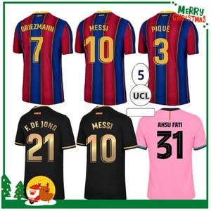 2020 2021 ansu fati ميسي grizmann دي جونغ بوجانييك كوتينيك قميص كرة القدم 20 21 الرياضة كرة القدم جيرسي برشلونة الرجال الكبار + أطفال كيت