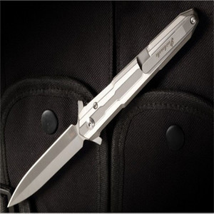 New style - No Double Holy Sword Quick Open Folding Knife M390 Sharp Blade Titanium Alloy Handle Camping Pocket EDC Tools