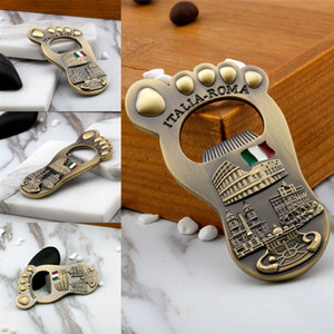 Hot sells Creative Foot Shape Bottle Opener Wine Beer Opener Tool Kitchen Dining Bar Drinking Bottle Opener Beer Wedding Gifts T9I001130