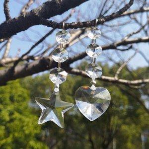 2 pçs / lote K9 Crystal Prisms Pingentes Chandeliers Peças Lustres Arco-íris Lâmpada Iluminação Acessórios 38mm