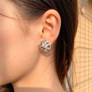 Boucles d'oreilles de luxe graffe 925 sterling argent stud mariage anniversaire bling diamant boucle d'oreille fiançailles bijoux femmes fête