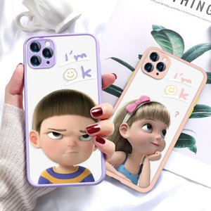 Funny Girl Painted for Apple iPhone12 11 Pro max mini XS Case Cartoon TPU Cell Phone Protective Cover 5 Styles