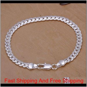 2018 Hot Xmas Wholesale Fashion 925 Sterling Silver Jewelry Snake Chain Bracelet ,New Fine 925 Silver Charm Chain Bracelet For Women C Fxovf
