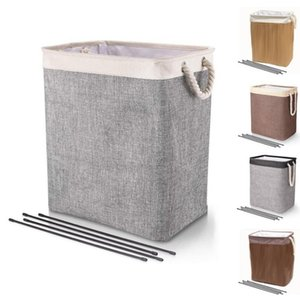 Laundry Bag Folding Washing Bin Collapsible Oxford Washing Dirty Clothes Laundry Basket Portable Laundry Storage Bags sea shipping ZC017