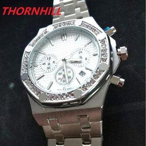 Todos os Subdiais Trabalho Mens Assista 42mm de Aço Inoxidável Relógios de Relógios de Relógios Top Quality Reloj de Lujo Negócios WristWatch Luxo Moda Cristal Diamantes Homens Relógios