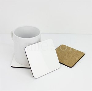 10*10cm Sublimation Coaster Wooden Blank Table Mats Heat Insulation Thermal Transfer Cup Pads DIY Coaster party favor DB518
