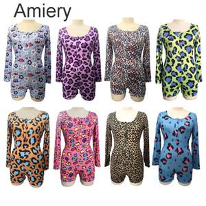 2021 Проектирование новых сексуальных V-образных вырезов Leopard Print с длинным рукавом комбинезон для женщин Clubwear Packsuits AMP Rompers платья в листинге A125