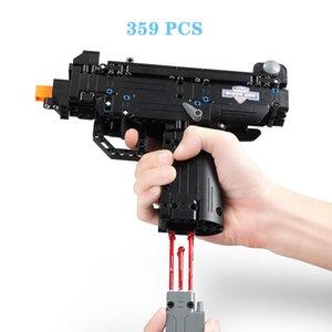 359pcs Game UZI Gun DIY Assembly Building Blocks Military Series Mini De Tech Model Brain-training Educational Intelligence Toys for Children Kids Gift C81008