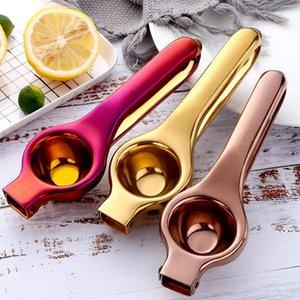 Manual prático Lemon Squeezer Aço Inoxidável Mão Press Laranja Frutas Juicer Juicer Mini Limão Clipe Cozinha Ferramentas DHD5027