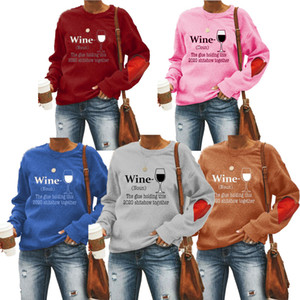 5 color Womens sweater cuffs love pattern pullover print plus fleece sweater 2020 autumn and winter hot sale