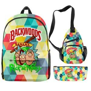 2021 3pcs backwoods cigar Backpack 3D Fashion Waterproof Anti-odor backwood bag packs fabric smell proof cookies bags