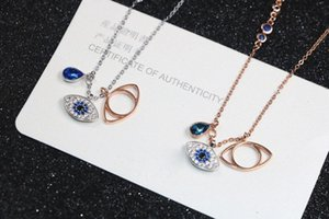 2019 Classic Evil Eye Necklace Jewelry for Women Girls Jewelry Set Best Gift Silver Rose Gold 2Colors 925 Sterling Silver Plated