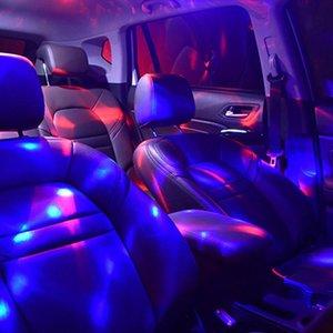 Interiorexternal 조명 자동차 인테리어 LED 스타 라이트 미니 USB 분위기 별이 빛나는 밤 프로젝터 램프 파란색 / 빨강 / 녹색 장식