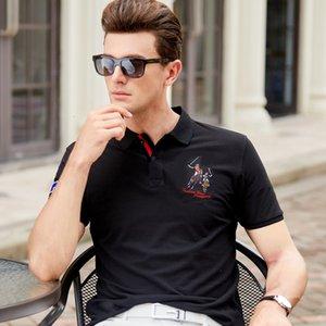 2021 Camisa Homme Nuovo Polo da uomo Camicia da uomo in cotone di alta qualità Manica corta estate Solido Maschio Casual Casual Business Menswear Plus Size Em4n